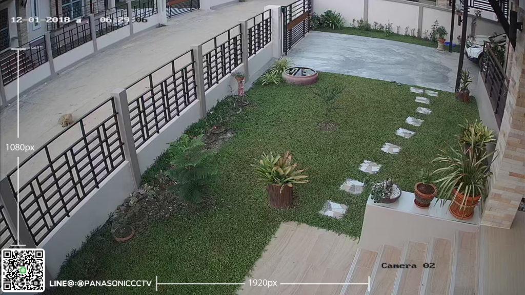 ภาพตอนเช้า กล้องวงจรปืด พานาโซนิค panasonic cctv